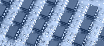 Close up of computer chip Stock Images