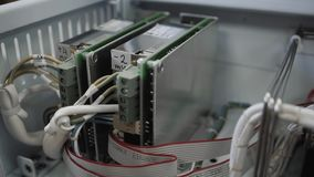 Close-up of computer chip on factory. Close up of computer chip stock video footage