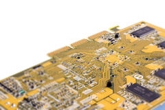 Close up of computer chip Royalty Free Stock Photography