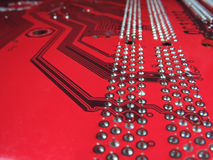 Close-up of Computer Circuit Board pattern Royalty Free Stock Image