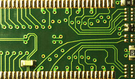 Close up of computer circuits Royalty Free Stock Photo