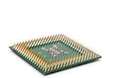 Close up of a computer CPU chip Stock Photos