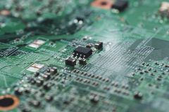 Computer circuit board.High technology Stock Photography