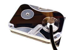 Close up of a computer hard disc Stock Photography