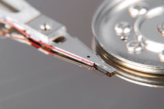 Close-up of the computer hard drive Royalty Free Stock Photos