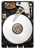 Close up of a computer hard drive. Isolated on a white background Stock Photography