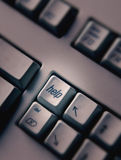 Close up of computer help key Royalty Free Stock Photography