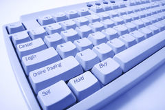 Close Up of Computer Keyboard Stock Photography