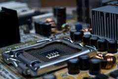 Close up of Computer Mainboard Stock Images