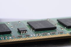 Close up of computer memory. Macro of computer ram memory barrette royalty free stock image