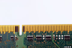 Close up of computer memory. Macro of computer ram memory barrette royalty free stock photography