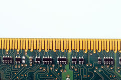 Close up of computer memory. Macro of computer ram memory barrette stock photos