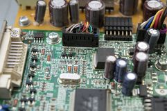 Details of computer chip stock image