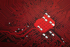 Close up of a computer motherboard circuit Stock Photography