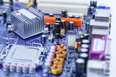 Close-up of computer motherboard Royalty Free Stock Photos