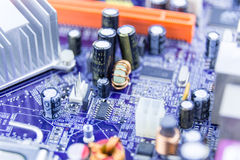 Close-up of computer motherboard Stock Images