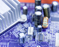 Close-up of computer motherboard Stock Photography