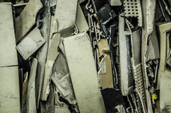 Close up of computer parts of electronic parts as garbage Stock Image