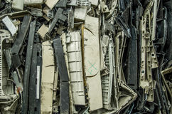 Close up of computer parts of electronic parts as garbage Royalty Free Stock Photo