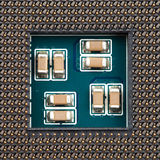 Close-up of computer processor socket Stock Image