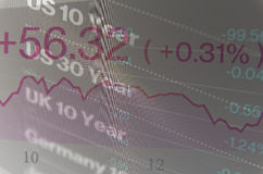 Close-up computer screen with trading platform window. Stock Photography