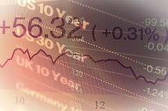Close-up computer screen with trading platform window. Stock Photos