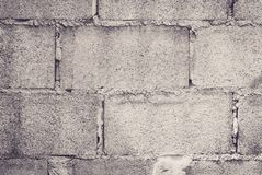 Close up concrete block brick wall background. Royalty Free Stock Photography