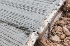 Close up of concrete road construction Royalty Free Stock Photography