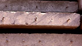 Close up of concrete slabs with reinforcement. Video shift motion 1920*1080 stock video