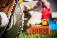 Close up concreto do cortador Foto de Stock