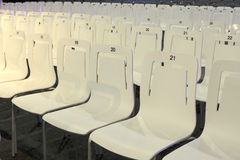 Close up of conference chairs in rows Stock Photo