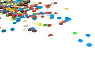 Close up of confetti Royalty Free Stock Photo