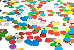 Close up of confetti Stock Image
