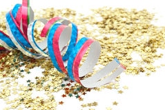 Close up of confetti Royalty Free Stock Photos
