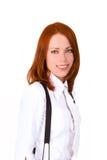 Close-up confiável da mulher de negócios imagens de stock royalty free
