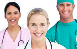 Close-up of confident medical team Royalty Free Stock Image