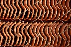 Close-up conservado em estoque das telhas de telhado Imagem de Stock Royalty Free