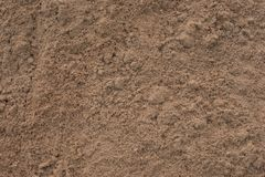 Close up of construction sand. With different sized  grains of yellow sand Royalty Free Stock Photos