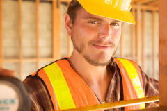 Close up of Construction Worker Royalty Free Stock Photo