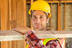 Close up of Construction Worker Royalty Free Stock Photos
