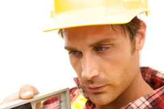 Close up of Construction Worker Stock Photo