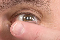 Close-Up Of Contact Lens And Eye 3 Royalty Free Stock Photo
