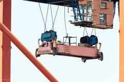 Close up of a container lifting equipment Stock Photography