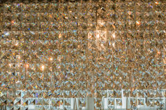 Close up of contemporary glass chandelier Stock Images
