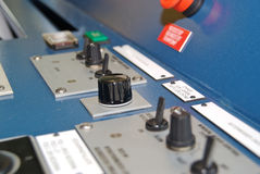 Close-up of Control Panel on a ships bridge Stock Photos