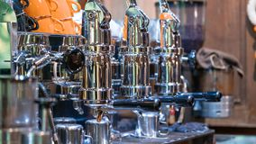 Fresh Brewing Coffee Maker Machine stock images