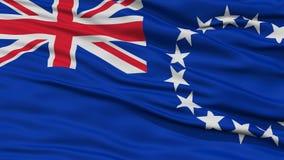 Close-up Cook Islands Flag Stock Fotografie