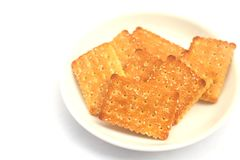 Cookie cracker isolated on white background Royalty Free Stock Image