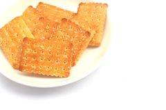 Cookie cracker isolated on white background Royalty Free Stock Images