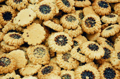 Close up of cookies on market stand Royalty Free Stock Photos